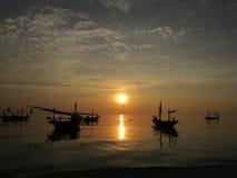 Salida del sol dramática Fotografía de archivo