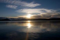 Salida del sol el día de Años Nuevos Imagenes de archivo