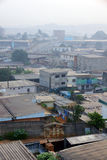 Salida del sol en África urbana Imágenes de archivo libres de regalías