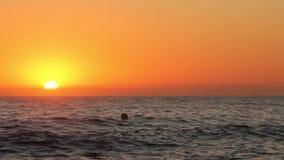 Salida del sol en 'la playa de las nóminas de Las en Denia almacen de video