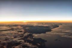 Salida del sol en 35.000 Fotos de archivo libres de regalías