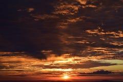 Salida del sol en Açu Foto de archivo
