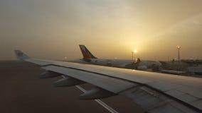 Salida del sol en Abu Dhabi Fotografía de archivo
