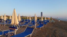 Salida del sol en Adria Sea Imagen de archivo