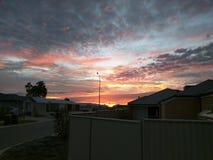 Salida del sol en Alkimos Foto de archivo libre de regalías
