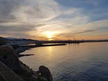 Salida del sol en Almería fotografía de archivo libre de regalías