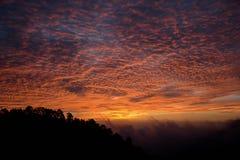 Salida del sol en Ang Khand Foto de archivo libre de regalías