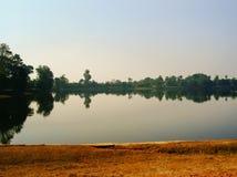 Salida del sol en Angkor camboya imágenes de archivo libres de regalías