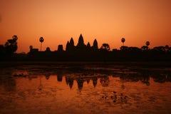 Salida del sol en Ankor Wat Fotos de archivo