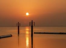 Salida del sol en Arabia Fotografía de archivo