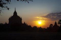 Salida del sol en Bagan Imagen de archivo libre de regalías