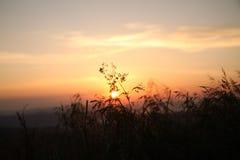 Salida del sol en Bieszczady Imagenes de archivo