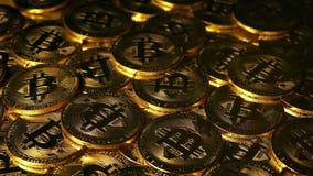 Salida del sol en Bitcoin - concepto Crypto del dinero almacen de video
