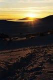 Salida del sol en Bucegi Foto de archivo libre de regalías