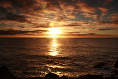 Salida del sol en Bundaberg fotografía de archivo
