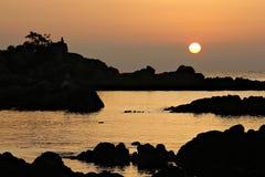 Salida del sol en Córcega foto de archivo