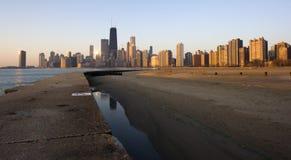 Salida del sol en Chicago Imagen de archivo libre de regalías