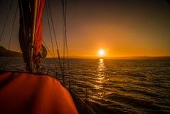 Salida del sol en Chile Foto de archivo