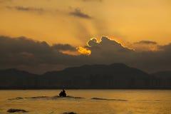 Salida del sol en China de Sanya Fotografía de archivo