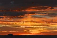 Salida del sol en Colorado Fotos de archivo libres de regalías