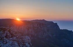 Salida del sol en Crimea Imágenes de archivo libres de regalías