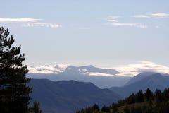Salida del sol en el Apennines, Italia Fotos de archivo libres de regalías
