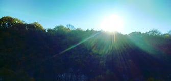 Salida del sol en el barranco Fotos de archivo