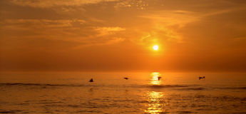 Salida del sol en el cabo Hatteras Fotografía de archivo libre de regalías