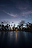 Salida del sol en el centro turístico de Punta Cana Imagen de archivo libre de regalías