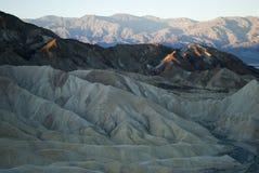Salida del sol en el desierto, California Foto de archivo