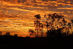 Salida del sol en el extremo superior Fotografía de archivo