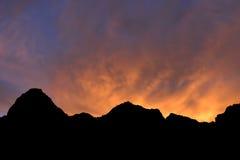 Salida del sol en el fuego Imagen de archivo libre de regalías