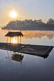 Salida del sol en el kanchanaburi Foto de archivo