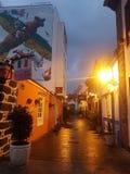 salida del sol en el la Cruz Tenerife, La Ranilla de Puerto de fotografía de archivo libre de regalías