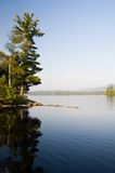 Salida del sol en el lago Imágenes de archivo libres de regalías