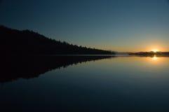 Salida del sol en el lago leigh Fotos de archivo libres de regalías