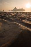 Salida del sol en el manao del Ao, Tailandia Tailandia que sorprende Imagen de archivo libre de regalías