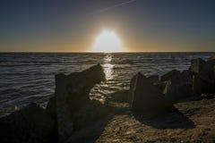 Salida del sol en el mar Báltico Imagen de archivo