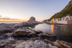 Salida del sol en el mar de Ancona Fotos de archivo libres de regalías