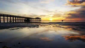 Salida del sol en el mar tailandés Foto de archivo libre de regalías