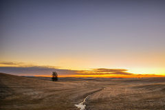Salida del sol en el Palouse Foto de archivo libre de regalías