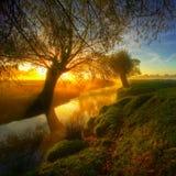 Salida del sol en el park7a Imagen de archivo