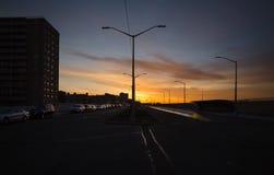 Salida del sol en el parque de Rockaway, Nueva York, los E.E.U.U. Imágenes de archivo libres de regalías