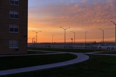 Salida del sol en el parque de Rockaway, Nueva York, los E.E.U.U. Imagen de archivo libre de regalías