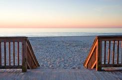 Salida del sol en el paseo marítimo Fotografía de archivo