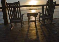 Salida del sol en el pen¢asco del Palmetto Fotografía de archivo libre de regalías