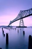 Salida del sol en el puente de Astoria Megler, los E.E.U.U. Fotos de archivo libres de regalías