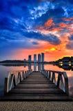 Salida del sol en el pullman Putrajaya Imágenes de archivo libres de regalías