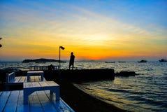 Salida del sol en el @Thailand de Koh Larn Fotografía de archivo