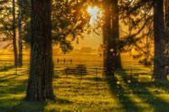 Salida del sol en el valle de Klamath Fotografía de archivo libre de regalías